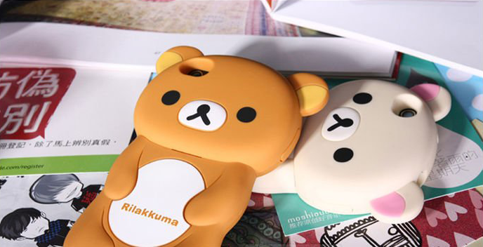 reputable site c2db5 f249a Rilakkuma 3D style iPhone 5 Case