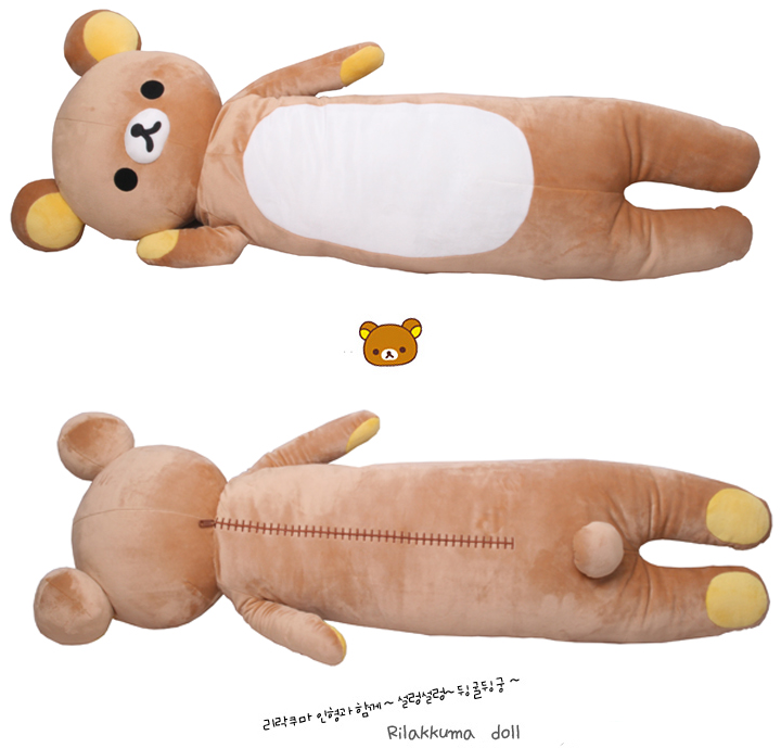 Rilakkuma Long Body Plush Pillow Rilakkuma World